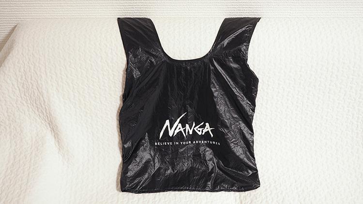 NANAGA ポケッタブルエコバッグ オモテ面ロゴ