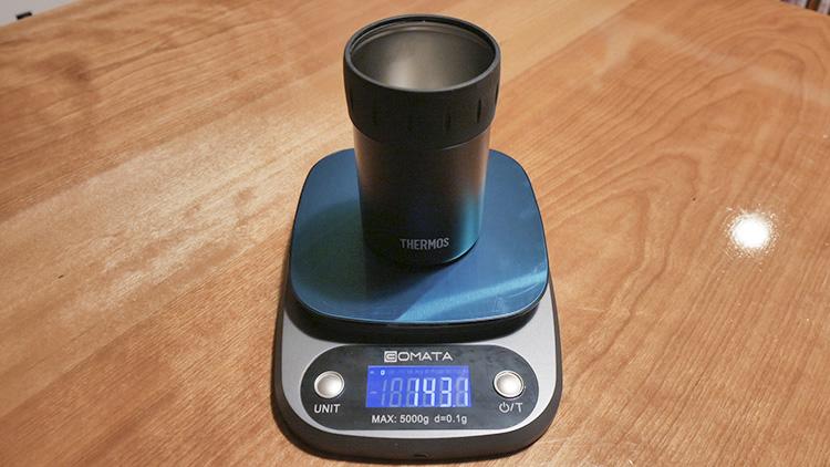 サーモス保冷缶ホルダー350ml実測重量