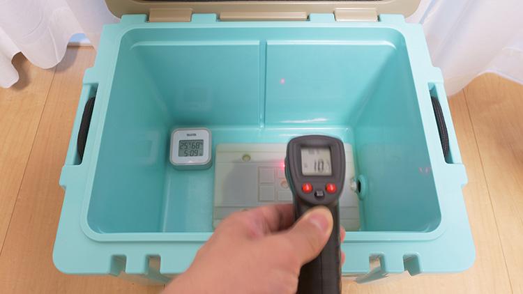 HYADクーラー27QT保冷力テスト LOGOS氷点下パックL