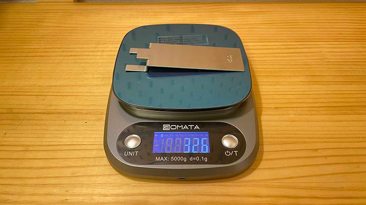 ロックパンS 専用付属チタンハンドル重量
